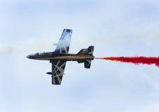 Flying display and aerobatic show of The Al Fursan UAE display t Stock Image