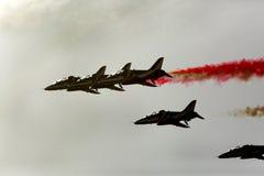 Flying display and aerobatic show of The Al Fursan UAE display t Stock Photography