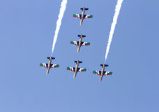 Flying display and aerobatic show of The Al Fursan UAE Stock Image