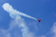 Flying display and aerobatic show of Zelazny group in Malopolski Piknik Lotniczy (Air festival), Krakow Stock Images