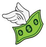 Flying dollar Royalty Free Stock Image