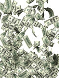 Flying dollar banknotes Royalty Free Stock Photos
