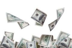 Flying Dollar Banknotes Royalty Free Stock Photo