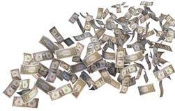 Flying dollar bills Royalty Free Stock Photography