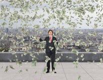 Flying dollar bills Royalty Free Stock Image