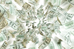 Flying dollar notes. Royalty Free Stock Images