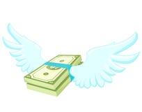 Flying Dollar. Vector illustration of Flying Dollars Stock Image