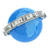 Flying dollars Royalty Free Stock Photo