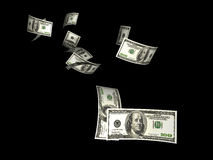 Flying Dollars Royalty Free Stock Photography