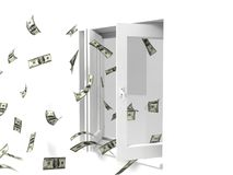 Flying Dollars Stock Image