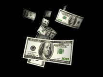 Flying Dollars Royalty Free Stock Images
