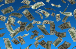 Flying Dollars Stock Images