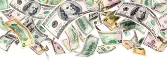 Flying Dollars Stock Photo