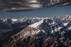 Flying in Dolomites Stock Photo