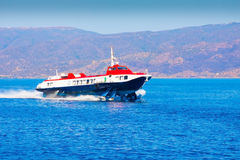 Flying dolphin to Hydra Island Stock Images
