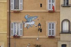 Flying Donkey street art Royalty Free Stock Image