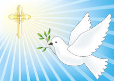 Flying dove. Easter  illustration Royalty Free Stock Photos