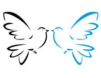 Flying dove stock illustration