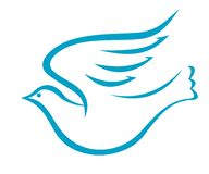 Flying dove or bird of peace Royalty Free Stock Image