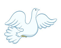Flying dove illustration. vector Stock Photo