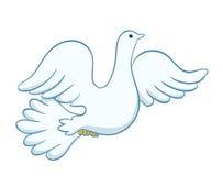 Flying dove illustration. vector Stock Photo