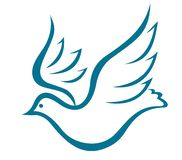 Flying dove of peace Stock Images