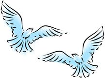 Flying dove Stock Image
