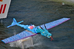 Flying dragon. Image of a dragon machine that actually flew Royalty Free Stock Images