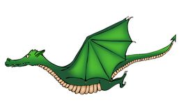 Flying dragon Royalty Free Stock Image