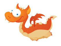 Flying Dragon. Flying Red Dragon. Cute Character Royalty Free Stock Photo