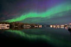 Flying dragon aurora Stock Image