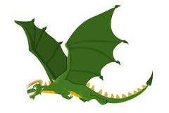 Flying dragon cartoon Stock Photo