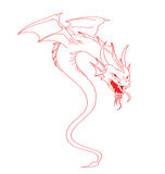 Flying dragon illustration Stock Photos