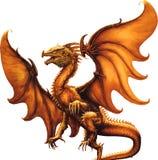 Flying dragon.Vector illustration Stock Photo