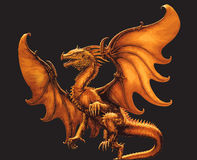 Flying dragon.Vector illustration Royalty Free Stock Photography