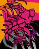 Flying dragons Stock Image