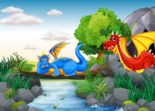 Flying Dragons Stock Photos