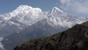 Nepal, Annapurna. Mardi Himal trek. Areial footage. Flying with dron in Annapurna consevation park stock video footage