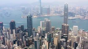 Hong Kong, aerial footage from Victoria peak