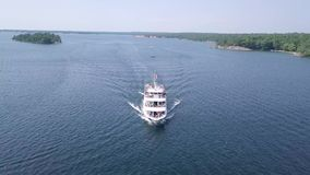Parry Sound, Ontario. Island Queen Cruise stock footage