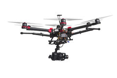 Flying drone with a camera Royalty Free Stock Photography