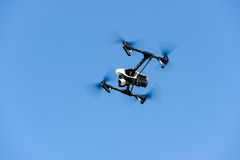 Flying drone with camera Stock Photography