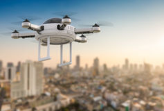 Flying drone Stock Photos