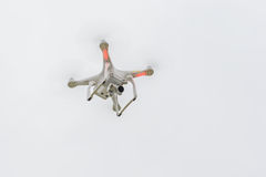 Flying drone on empty sky Stock Photography