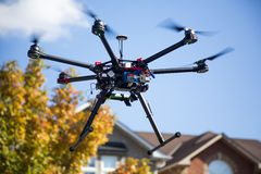 Flying Drone Stock Photography