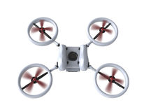Flying drone   isolated on white background with clipping path Royalty Free Stock Image