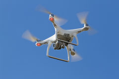 Flying drone. During shooting, sky Stock Images