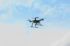 Flying drone on the sky Stock Images