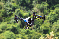 Flying drone on the sky Stock Photos