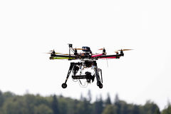 Flying drone in the sky Stock Photography